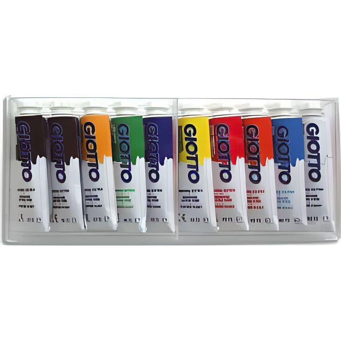 Boite de 10 tubes 10ml de gouache - couleur ass…