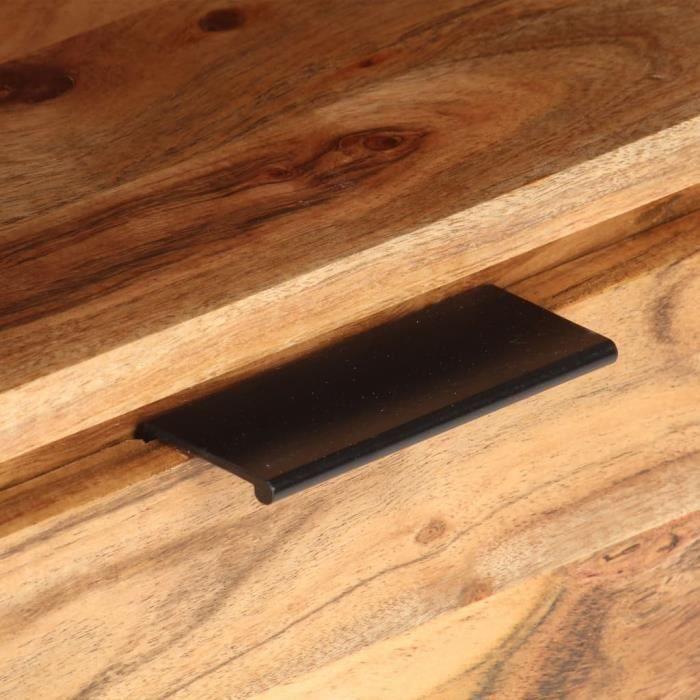 BEL Table de chevet 40x30x50 cm Bois d'acacia massif # 0
