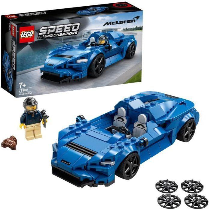LEGO® 76902 Speed Champions McLaren Elva jouet voiture de course, objet de collection pour enfants de 7 ans et plus