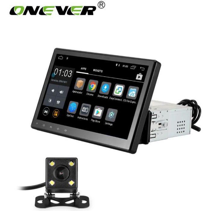 Autoradio Navigation GPS 1 Din Android 6.0 Quad Core - 10.1- Écran Tactile HD 1080P Avec Caméra De Recul