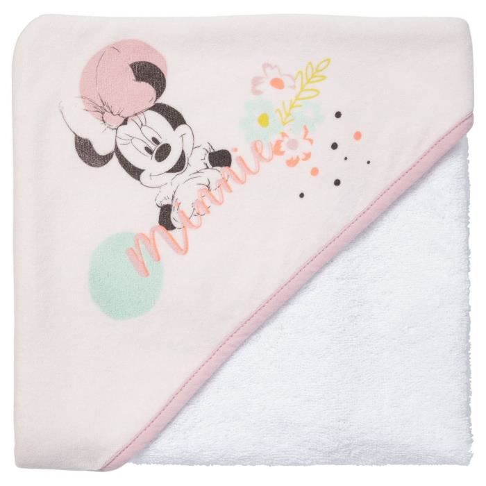DISNEY BABY Minnie Cape de bain 80 x 80 cm