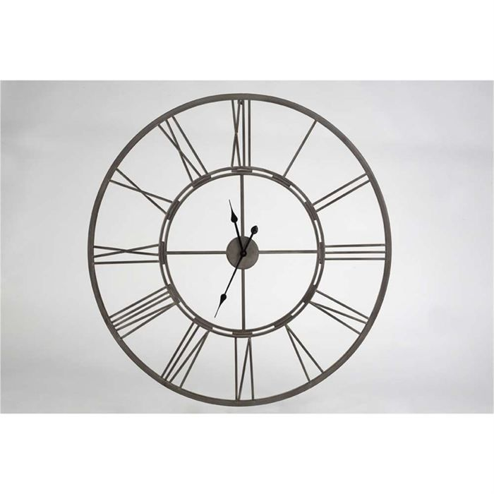 horloge metal chiffres romains achat vente horloge cdiscount. Black Bedroom Furniture Sets. Home Design Ideas