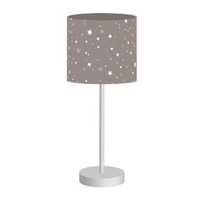 lampe de chevet abat jour couleur taupe toil achat vente lampe de chevet abat jour c. Black Bedroom Furniture Sets. Home Design Ideas