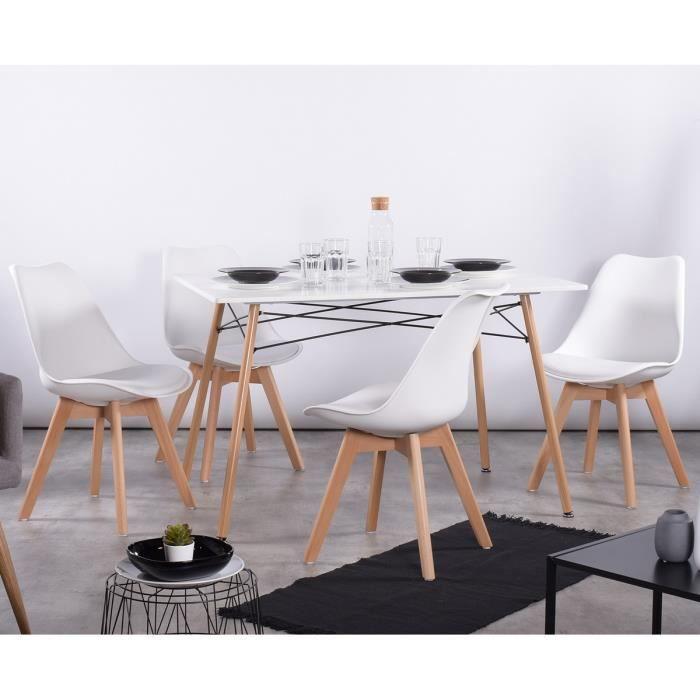 Table A Manger Pour 4 A 6 Personnes 4 Chaises Blanc Design