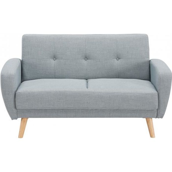 Canap 2 places convertible scandinave gris silo achat for Canape 2 places arrondi