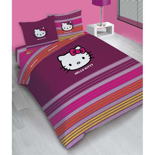 hello kitty parure de lit housse de couette achat. Black Bedroom Furniture Sets. Home Design Ideas