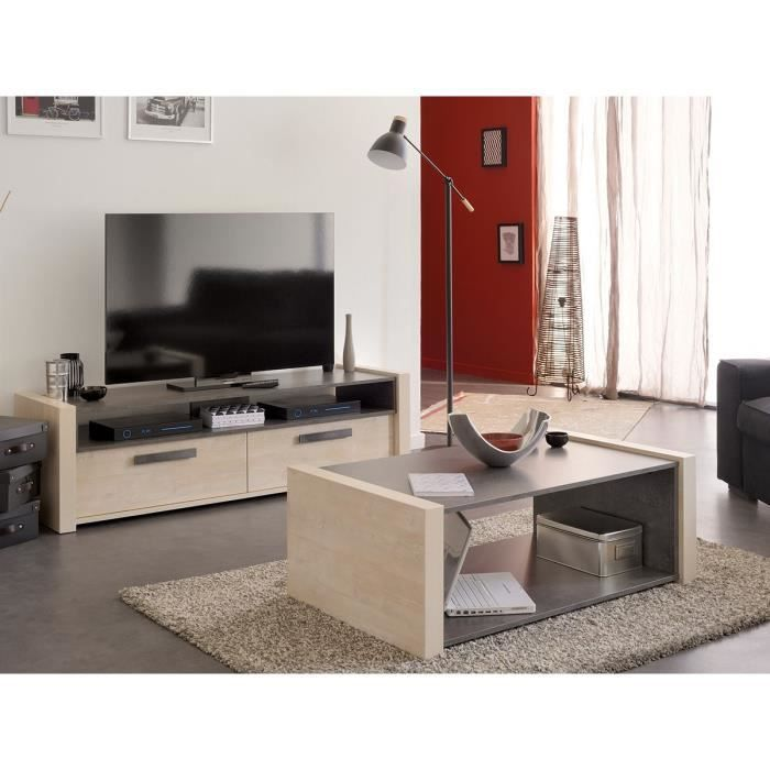 salvare meuble tv table basse marron achat vente. Black Bedroom Furniture Sets. Home Design Ideas