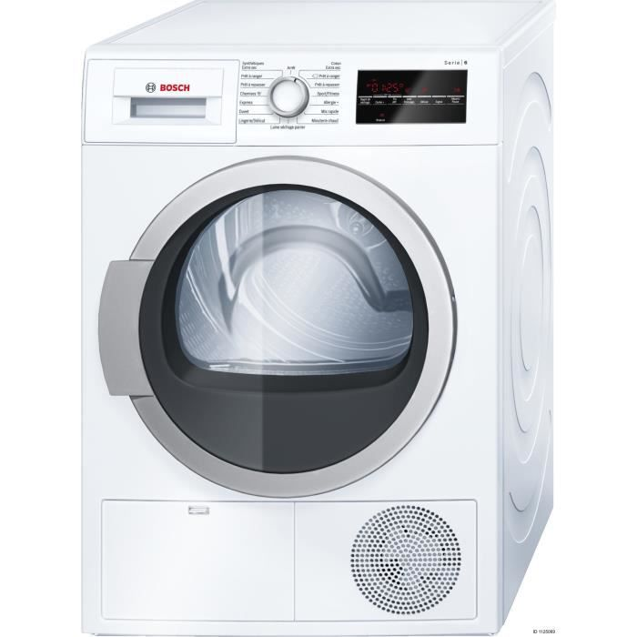 bosch wtg86400ff s che linge condensation 9kg blanc. Black Bedroom Furniture Sets. Home Design Ideas