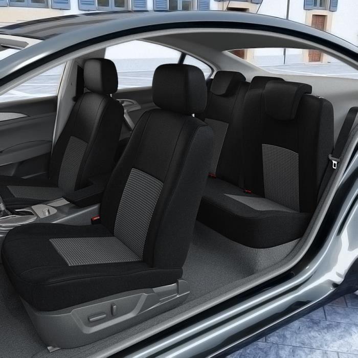 Toyota Auris 2x Front velour p3-105 voiture Sitzbezüge Housses De Protection Housse De Siège