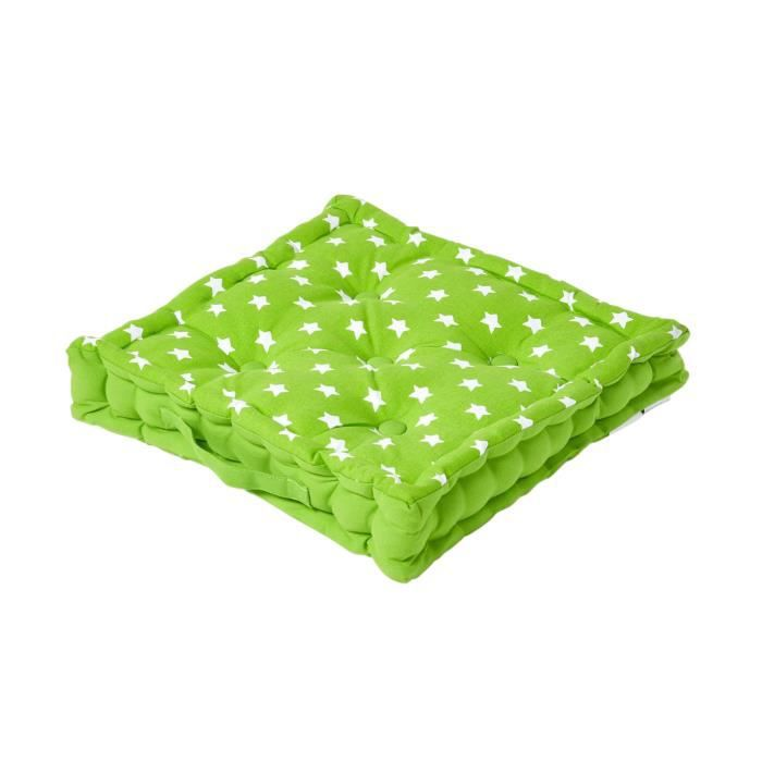 coussin de sol vert toiles 50 x 50 cm achat vente. Black Bedroom Furniture Sets. Home Design Ideas