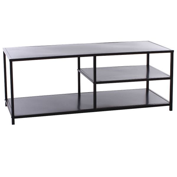 table tv en metal shana achat vente meuble tv table tv en metal shana cdiscount. Black Bedroom Furniture Sets. Home Design Ideas