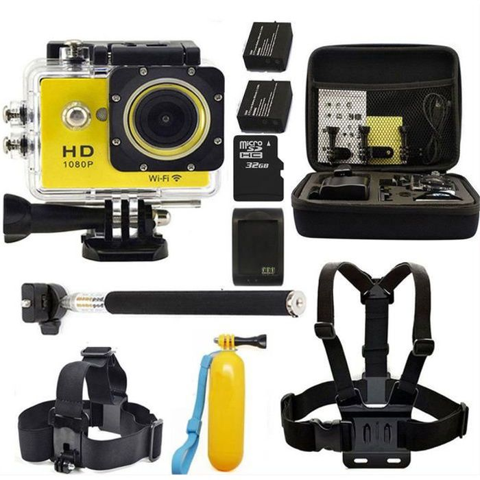 camera embarquee gopro achat vente pas cher. Black Bedroom Furniture Sets. Home Design Ideas
