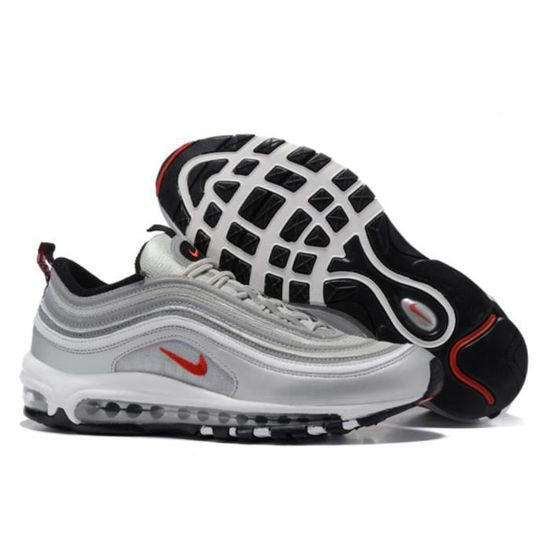 Basket Nike Air Max 97 Homme Running Chaussure Argent et
