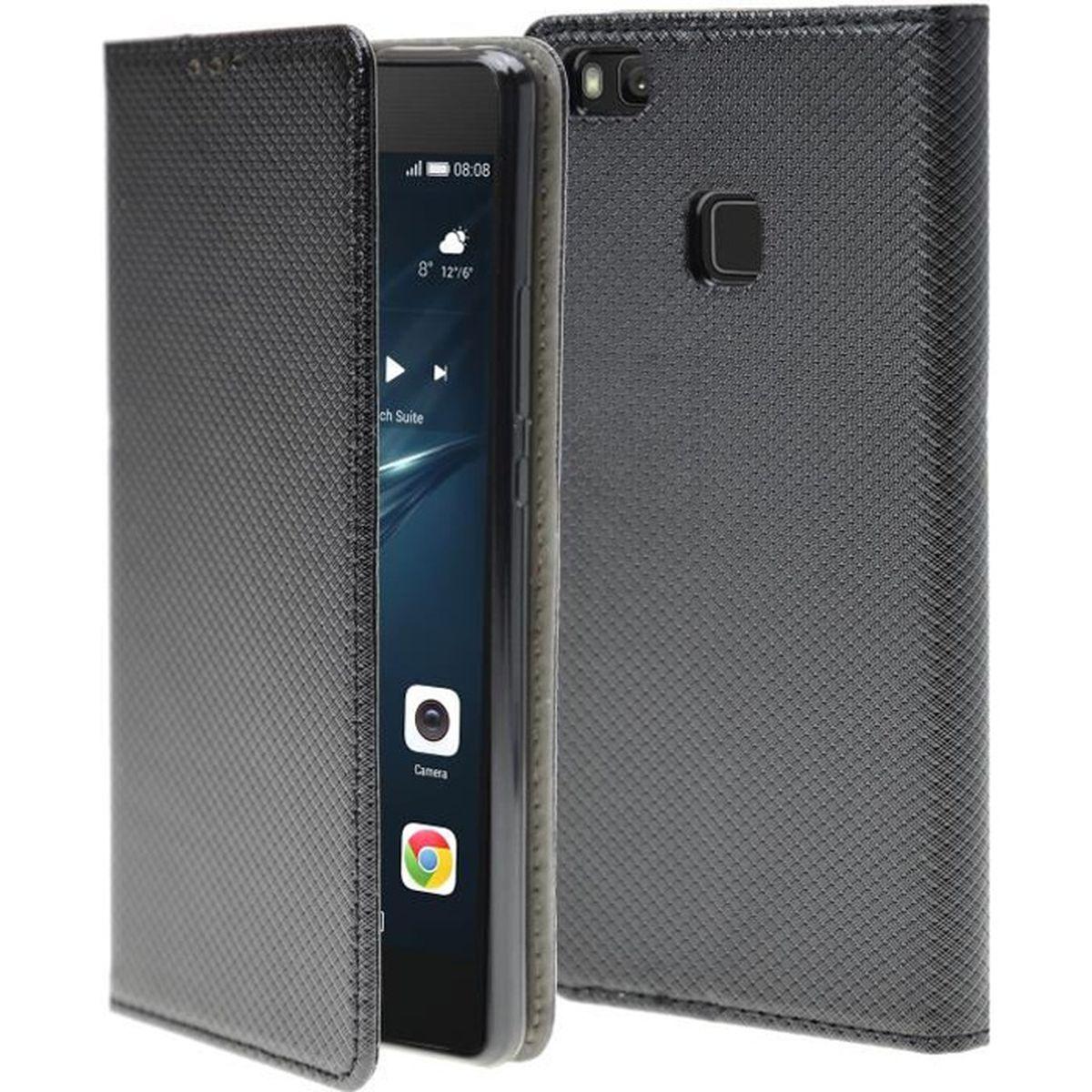 Supporter Portefeuille Flip PU Cuir Couverture Housse Coque Etui pour Huawei P9 Lite avec Cr/édit Carte Tenant Fente A-03 Dooki Huawei P9 Lite Coque