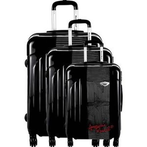 VALISE - BAGAGE Set de 3 Valises Rigide ABS & Polycarbonate 4 Roue