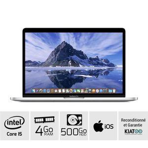 Achat PC Portable MACBOOK PRO 13 pouces Gris core i5 2.5 GHZ 4 go ram 500 go HDD disque dur clavier QWERTY pas cher