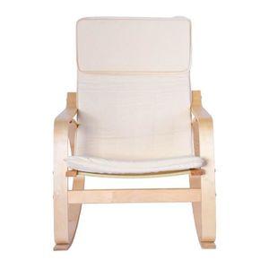 CHAISE DE BUREAU Fauteuil de Détente Confortable Chaise en Bois de
