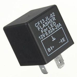V/éhicule Voiture 3 Broches LED Virage Voyant Clignotant Relais Clignotant 12V DC 0,02-20 A