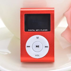 LECTEUR MP3 Mini MP3 Player rouge Clip USB FM Radio LCD Screen