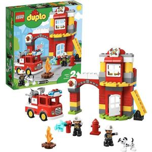 ASSEMBLAGE CONSTRUCTION LEGO® DUPLO® 10903 - La Caserne de Pompiers - Jeu