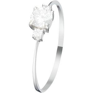 BAGUE - ANNEAU Mes-bijoux.fr - Bague Femme Intuition Or Blanc 375