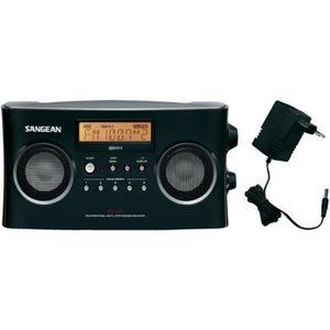 RADIO CD CASSETTE Radio stéréo portable RDS Sangean PR-D5 noire
