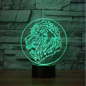 3d Le lion /égyptien ressemble /à Pharaon Illusion lampe de lumi/ère de nuit 7 couleurs changeantes Touch USB Table Nice Cadeau jouet D/écoration