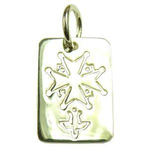 PENDENTIF VENDU SEUL Médaille Croix Protestante (Huguenote) Argent