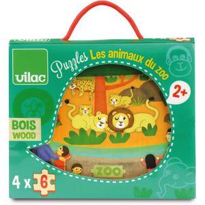 PUZZLE Vilac - 2642 - Puzzles Les Animaux du Zoo - 24 Piè