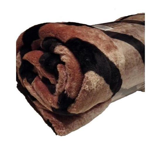 tissu polaire fourrure epaisse polaire marron//beige au metre