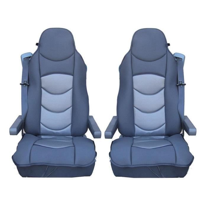 2x LUXE HOUSSE COUVRE SIEGE COUVRE-SIEGE POUR MERCEDES ACTROS AXOR ATEGO