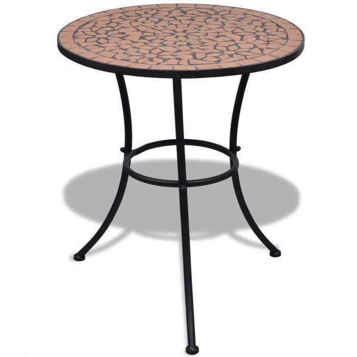 MAD Table de bistro Terre cuite 60 cm Mosaïque