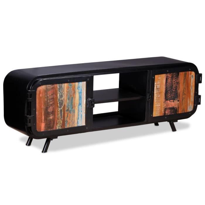 Mode - Meuble TV Moderne - Meuble HI-FI Meuble de rangement Bois de récupération 120 x 30 x 45 cm élégant 88994