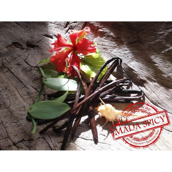 5 Gousses de vanille noire de MADAGASCAR (taille des gousses : 12-14 cm) Qualité : Gourmet