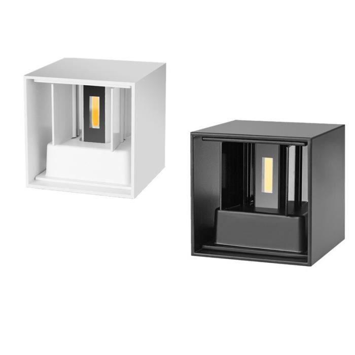 IP65 étanche 6W 12W lampe extérieure murale à LED moderne en aluminium réglable en Surface monté cube LED jardin po - White - JB6491