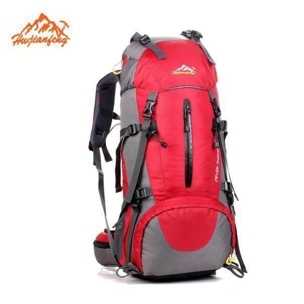 50L Sac à dos de randonnée en plein air Camping voyage sacs à dos Waterproof alpinisme YJL60825766RD