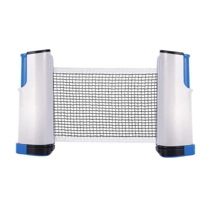 Filet Ping-Pong Filet Tennis de Table Rétractable Adaptable Portable Accessoire de Ping-Pong,Bleu et Gris