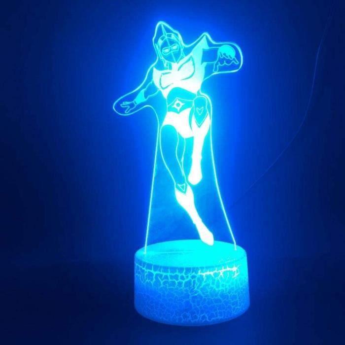 3D Illusion Lampe Led Veilleuse Ufo Goldorak Smart Control Cadeau Unique Pour Chambre D&eacutecoratif Tactile Capteur Lumineux