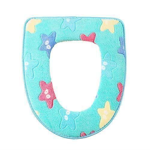 Housses de siège de Toilette Couvre-siège de Toilette Star Soft Thicken Couvre-siège de Toilette Coussin Lavable C LIJFK20710