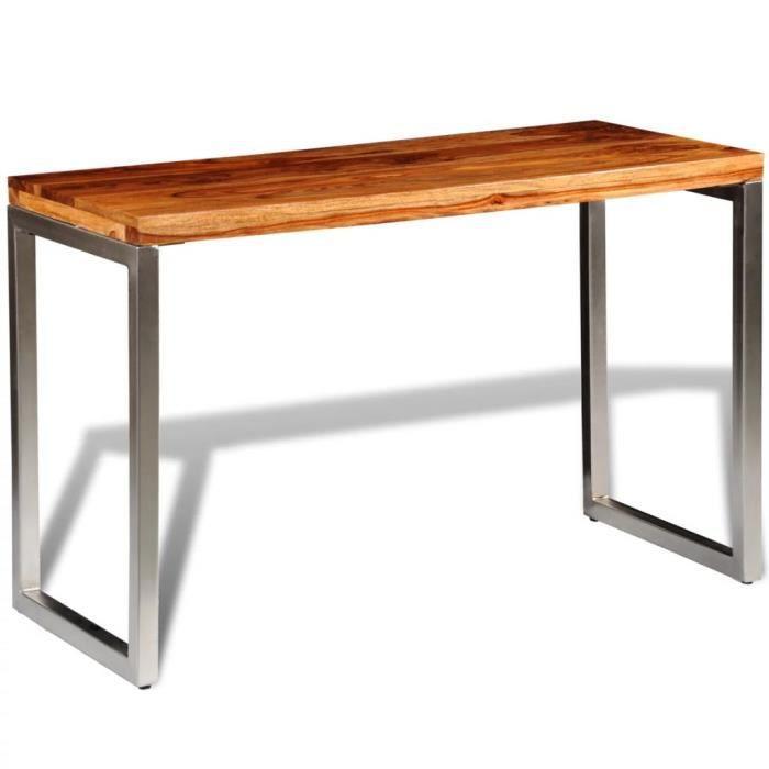 Table de salle à manger et pieds en acier Bois