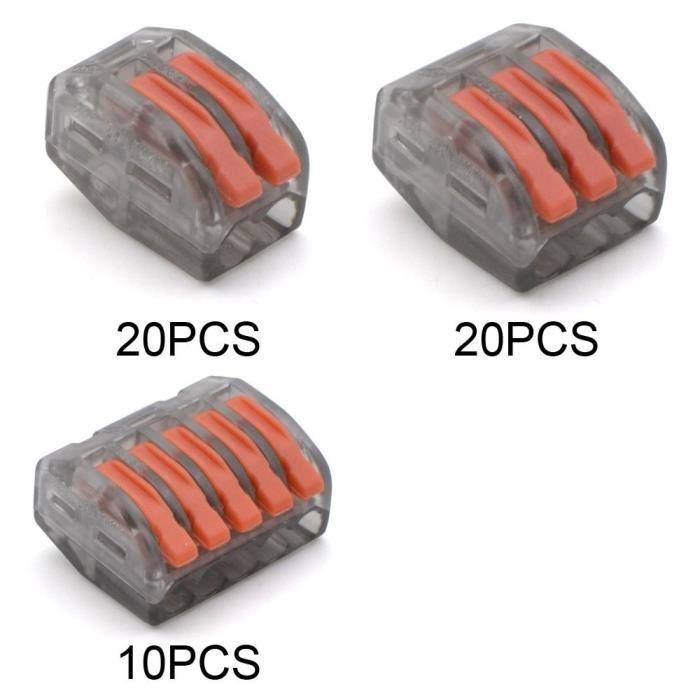 WAGO B 20 20 10-50 Pieces -Bornier universel pour le transport de l'énergie solaire,Mini fil Compact,rapide,connecteur de voiture