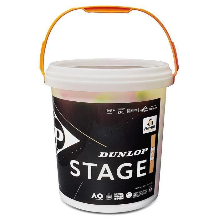 Dunlop mini balle de tennis Stage 2 caoutchouc/feutre orange/jaune 60 pièces