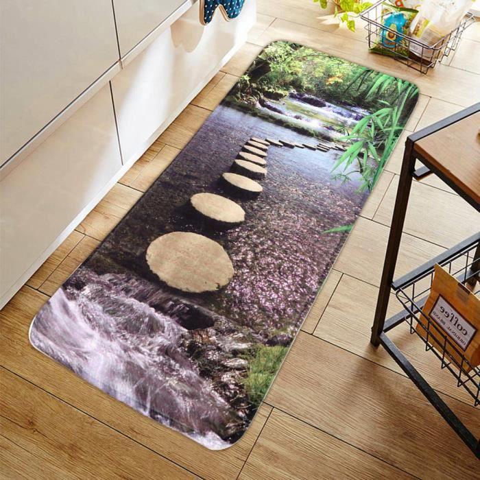 EJ.life tapis de tapis Paillasson antidérapant pour salle de bain domestique Tapis de sol à motif naturel Tapis de sol Tapis de