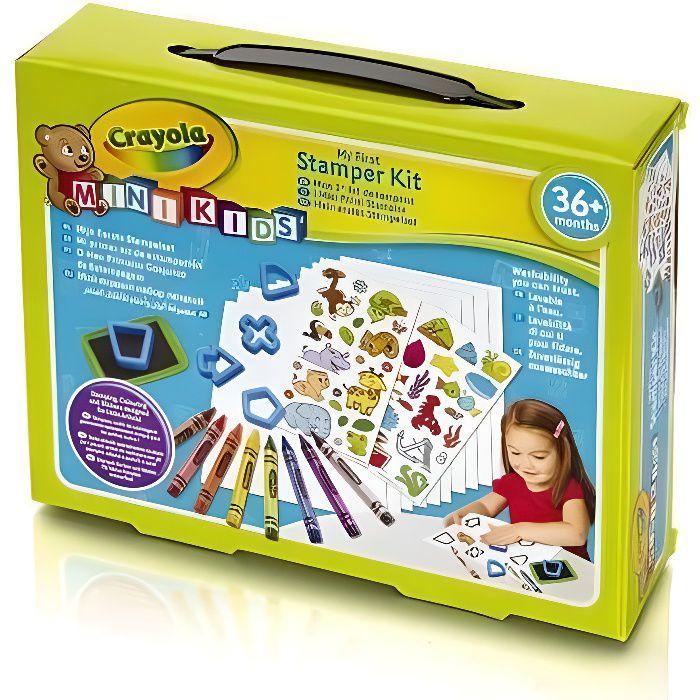 Crayola Jeu de tampons - Mon 1er kit de tampons - Loisir créatif