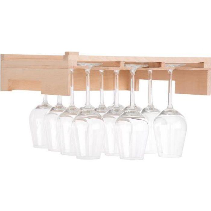 Klarstein Barossa 77D Clayette - Accessoire Clayette de cave à vin - Etagère de suspension pour verres à vin - 3 rails en bois