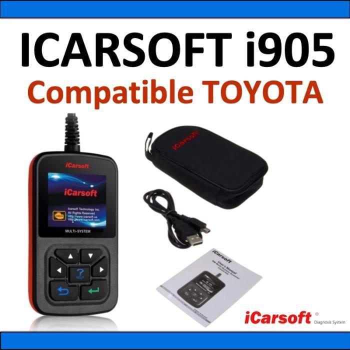 Interface de diagnostic iCarsoft i905 compatible avec véhicules TOYOTA - Diagnostic Tous Systèmes