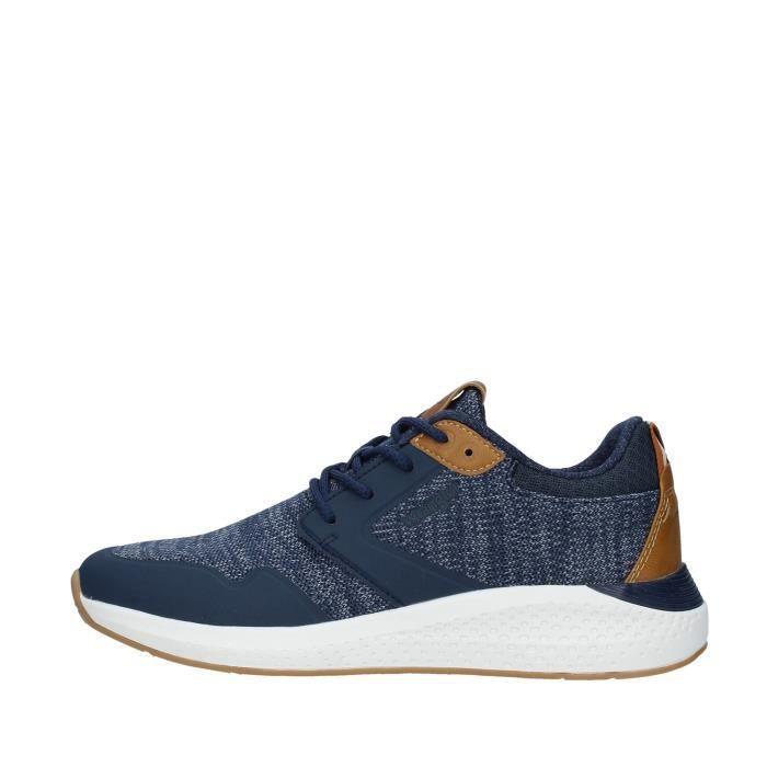 Wrangler WM01072A chaussures de tennis faible homme BLEU MARINE