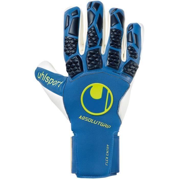 Gants de gardien de but Uhlsport hyperact absolutgrip hn - bleu nuit/blanc/jaune fluo - 8