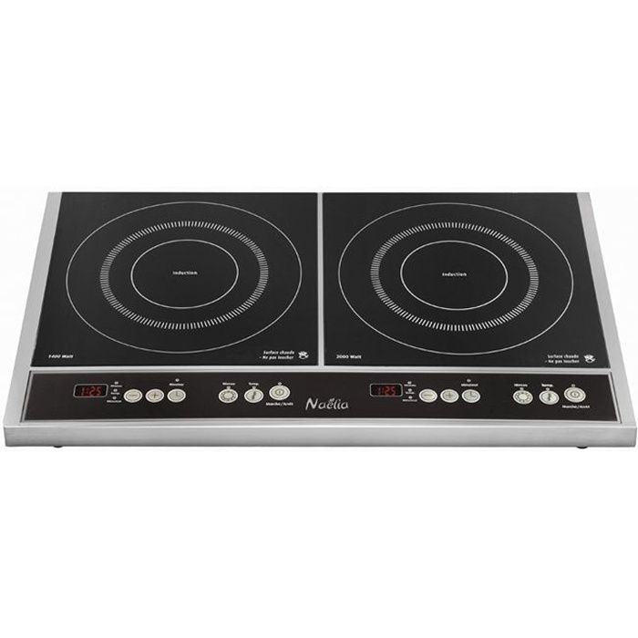 NAELIA CGF-06903 Plaque de cuisson posable à induction - Noir
