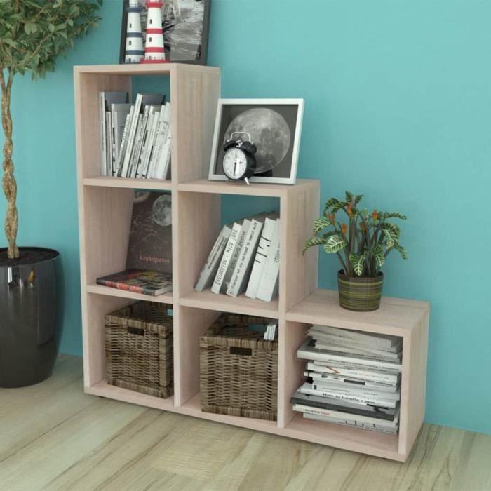 Bibliothèque-étagère Meuble escalier meuble de rangement contemporain scandinave107 cm Couleur de chêne
